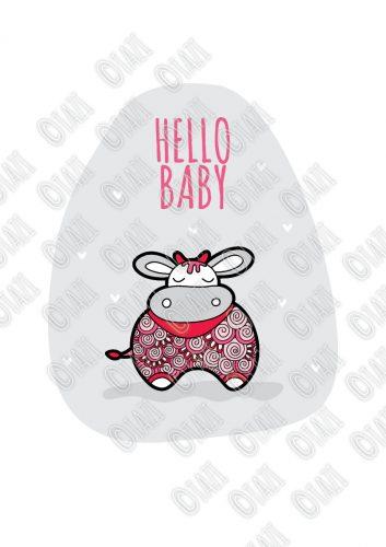 DIY A3-Hello-Baby-Pink