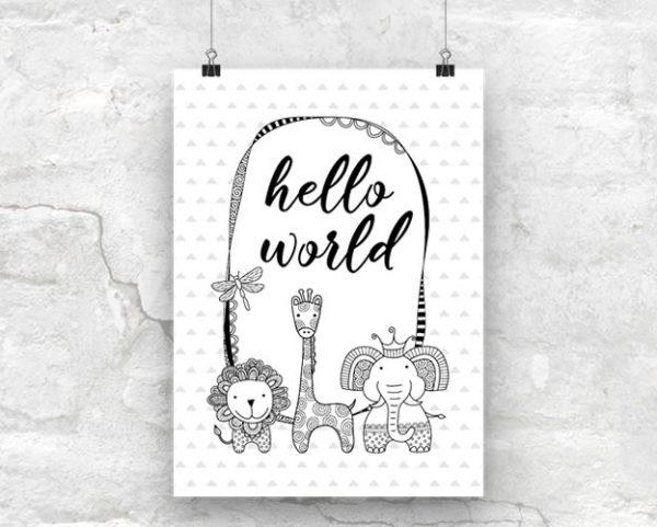 DIY A3-Hello-World-Poster