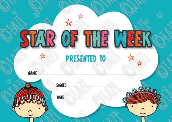 DIY A4-Star-Certificate