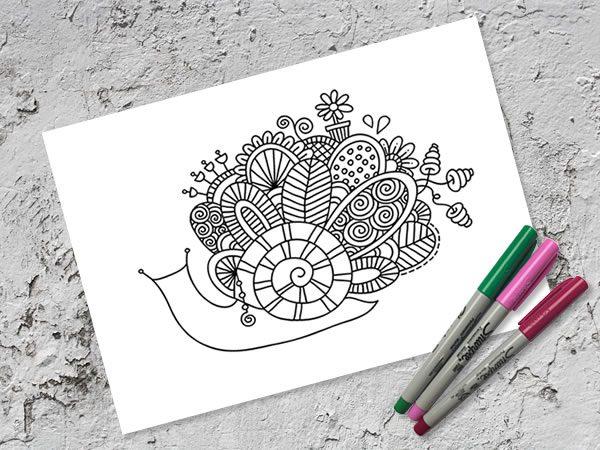 DIY A4-snail-doodle