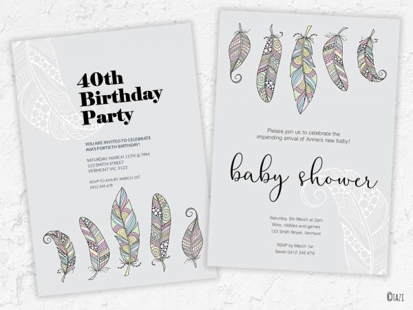 DIY background-feathers