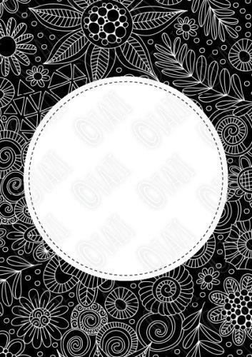 DIY BW-Doodle-Circle-Watermark