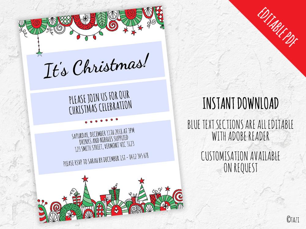 DIY Christmas-Border-Editable