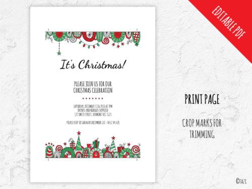 DIY Christmas-Border-Print