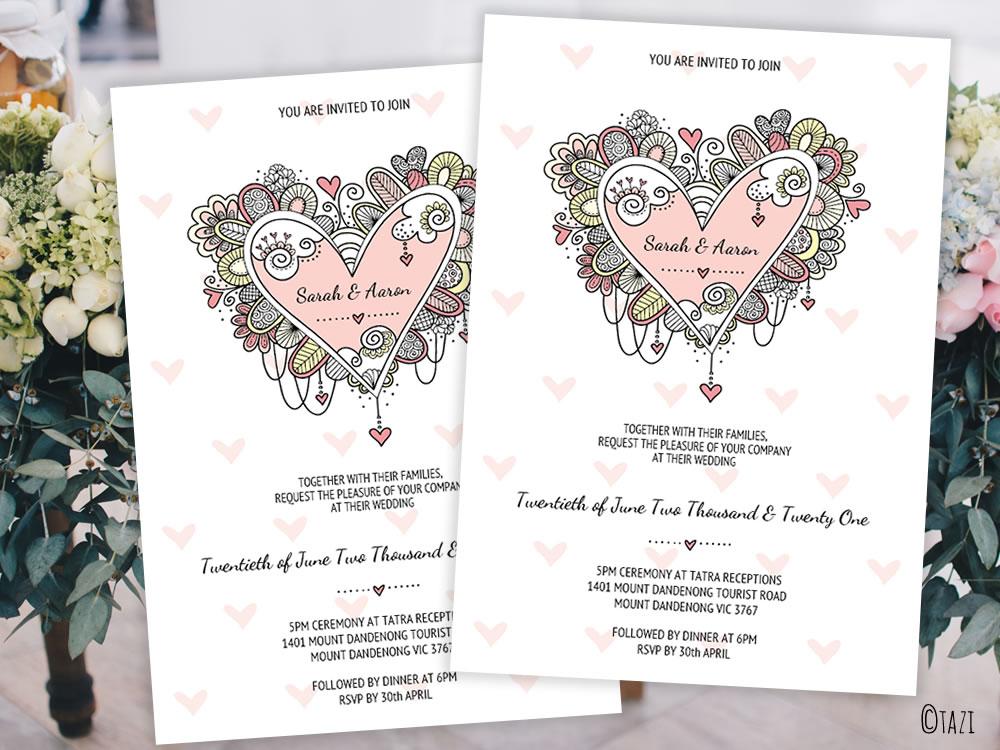 DIY Heart-invitation