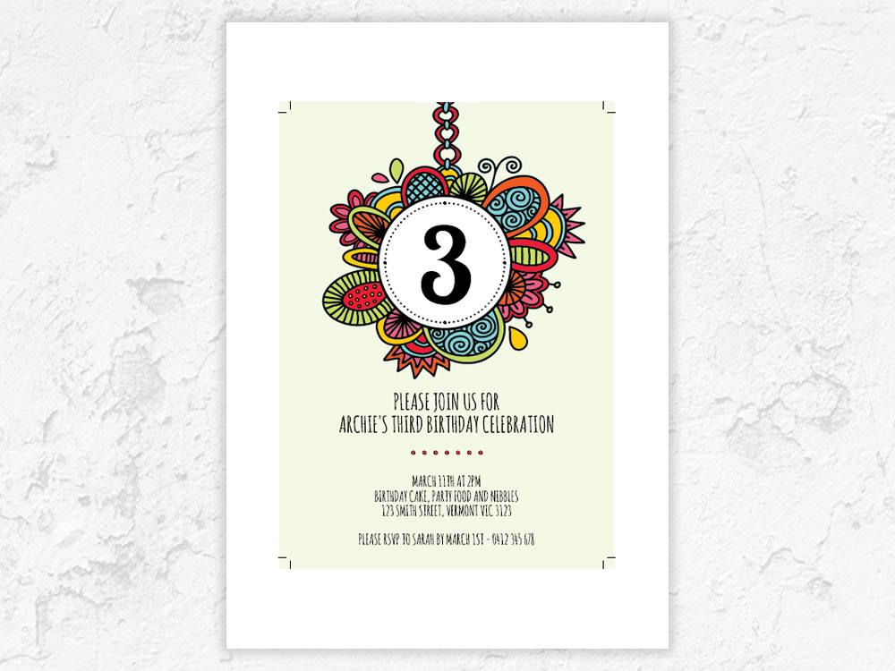 DIY Number-invitation