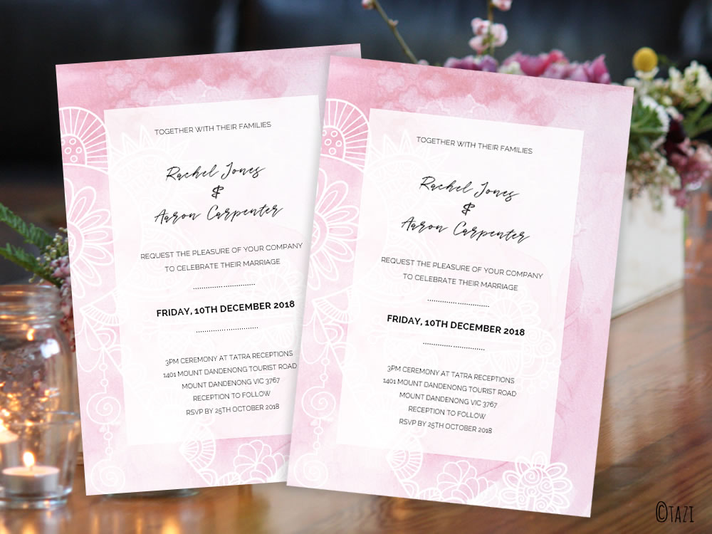 DIY Pink-watercolour-invitation