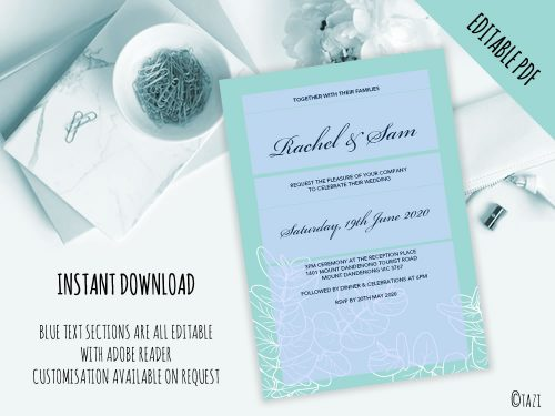 DIY-Wedding-Leaves-Green-Editable
