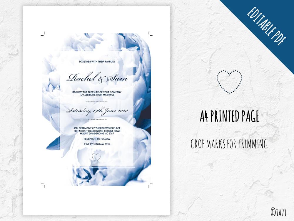 DIY-Wedding-Peonie-Navy-Print