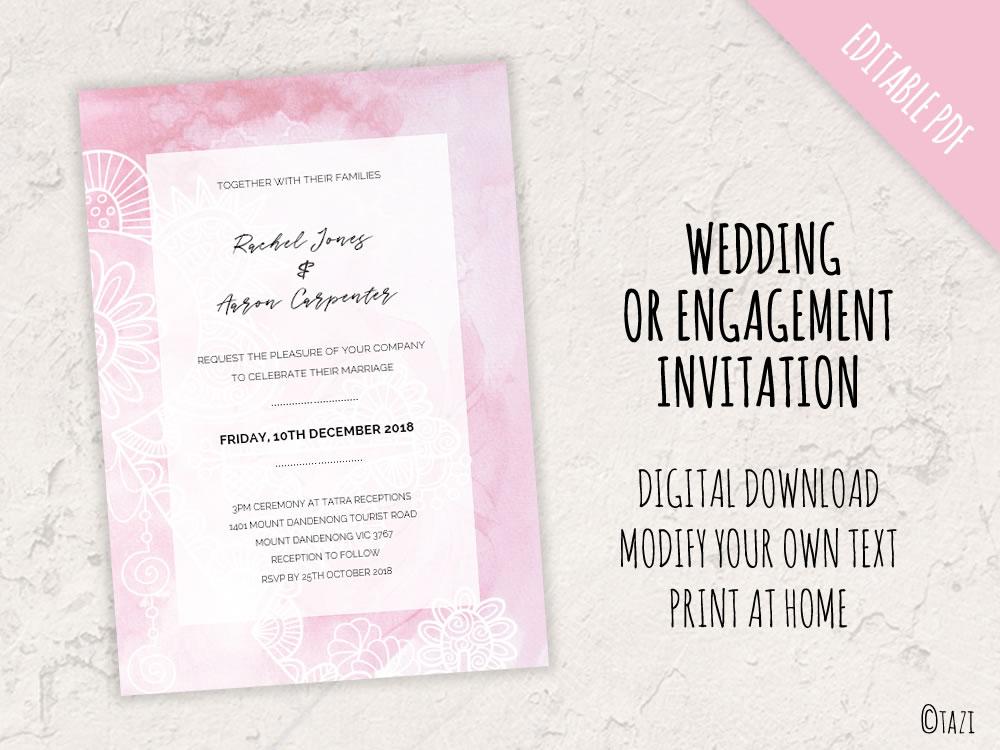 DIY Wedding pink