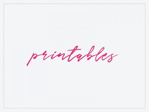 DIY printables