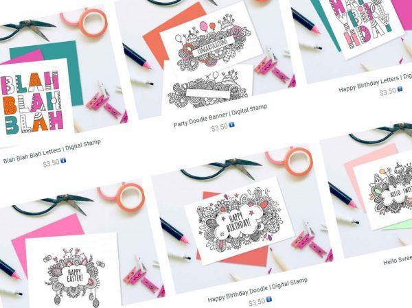 DIY digital-stamps