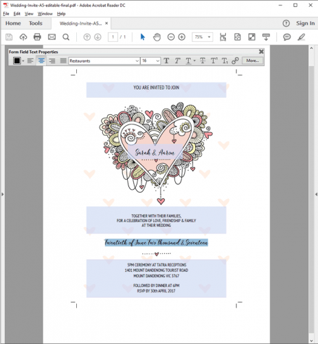 DIY editable fields