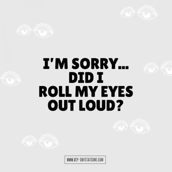 DIY eye-roll