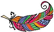 DIY doodle feather