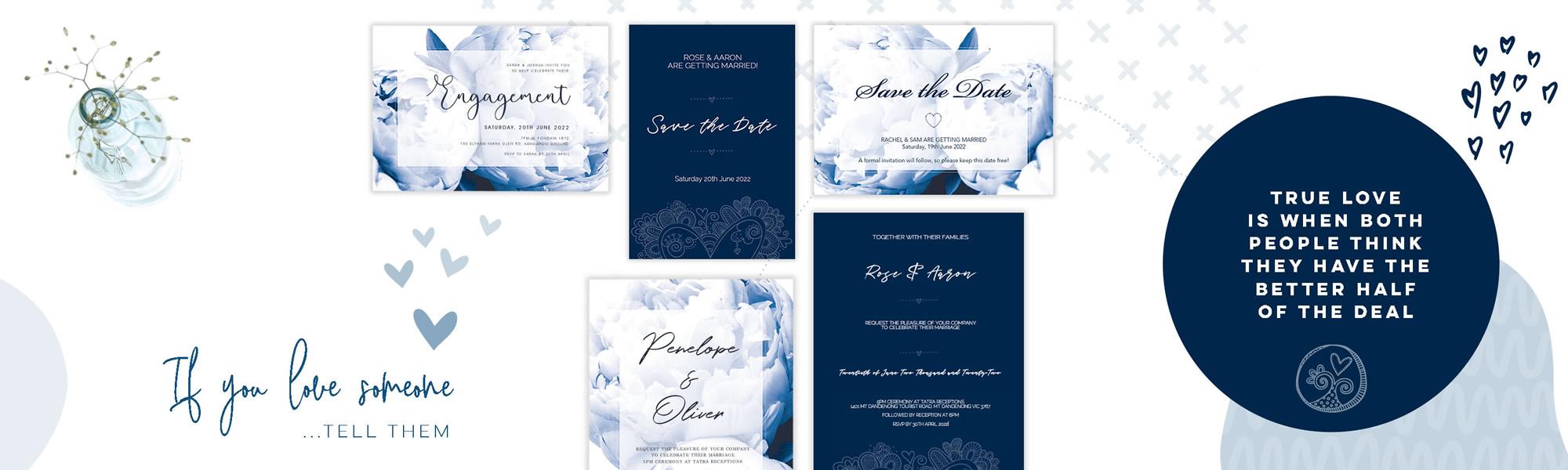 Save the Dates & Wedding Invitations