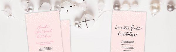 DIY pink confetti invitation