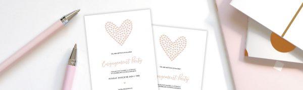 DIY blush invitation
