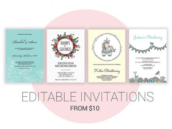 DIY Editable Invitations