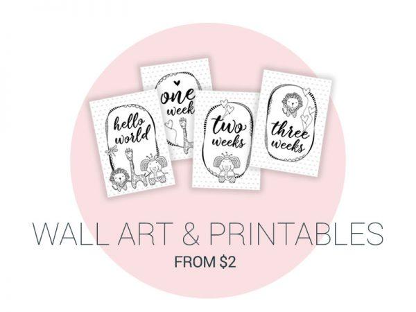 DIY printables wallart milestones