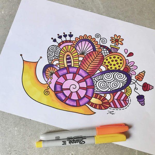 DIY snail-colouring