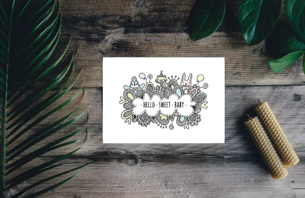 DIY sweet-baby-card