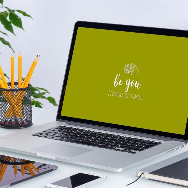 DIY wallpaper-be-you